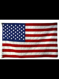 CLASSIC EMBROIDERED 50 STATES AMERICAN FLAG .