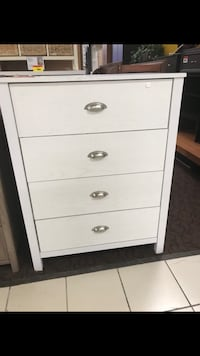 white wooden 4-drawer chest Burnaby, V3N 2S4