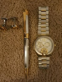 Aigner watch, pen and cuff buttons