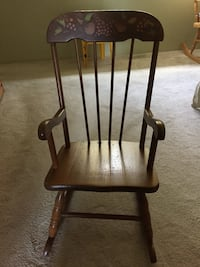 brown wooden windsor rocking chair Port Moody, V3H 1S4