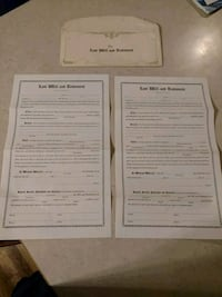 Vintage his and hers last will n testament Wellington, 80549