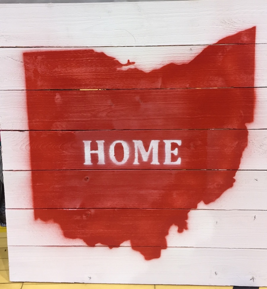 Letgo wooden ohio home sign in new albany oh for New home sign