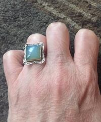 Ladies sterling silver ring with genuine tourmaline stone.  Burnaby, V5E