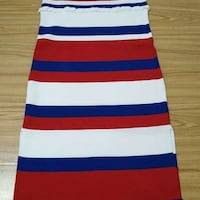 white, blue, and red stripe sleeveless dress Montreal, H3G