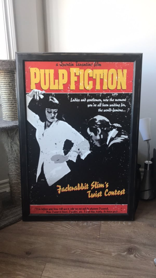 Framed Pulp Fiction Poster 0b89b79d-3625-4c78-b128-170d5675c5e9