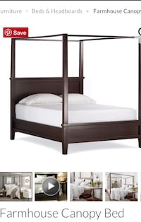 Pottery barn queen size canopy bed Citrus Springs, 34434