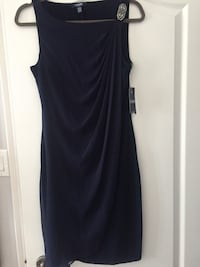 NWT Navy Blue Chaps Dress Size 8