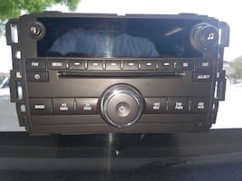 black 1-double din truck stereo