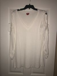 77f29c4f7e Used White shirt with lace cut out over shoulders for sale in ...