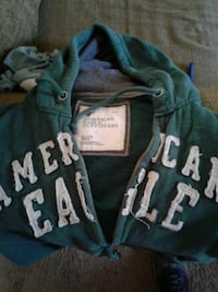 blue and white Aeropostale zip-up hoodie Sacramento, 95824