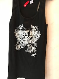 svart tank top med Midnight Hour-utskrift Norrköping, 602 39
