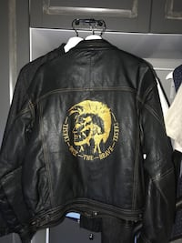 Leather jacket(Diesel) Size-XL