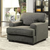 gray fabric sofa chair with ottoman Windcrest