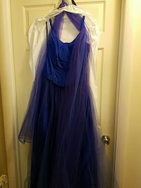 Periwinkle prom dress.  Worn once