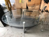 Glass coffee center table stainless steel chrome legs BRAND NEW Clinton Township, 48038