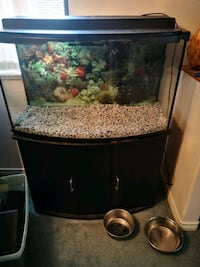 55 gallon bow front tank with cover and light  Delta, V4C 7S1