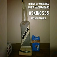 Oreck XL upright vacuum cleaner with 8 new bags Huntsville