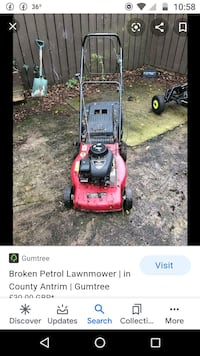 Looking for broken or unwanted push mowers and other small engines