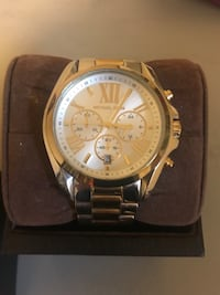 Round gold and silver michael kors chronograph watch with links Spartanburg