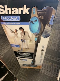 white and blue Shark vacuum cleaner box Calgary, T3J