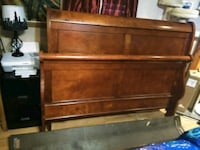 Queen sleigh bed frame. Comes with rails. Jacksonville, 32210