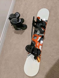 Sims Oath 157cm Snowboard + Boots size 12 - USED