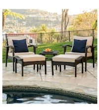 New**Maui Outdoor 5-piece Brown Wicker Seating Set Moreno Valley, 92551