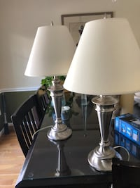 Pair of brushed nickel table lamps North Potomac, 20878