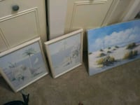 3 beach decorative pictures Ocala, 34471