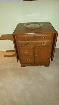 Wood sewing machine cabinet/table