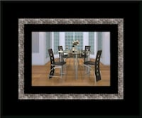 Counter height glass dining table with 4 chairs Alexandria, 22305