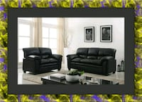 Black sofa and love seat bonded free delivery Alexandria, 22305