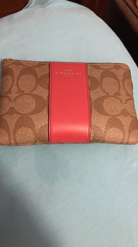 brown monogrammed Coach zip long wallet Tabor City, 28463