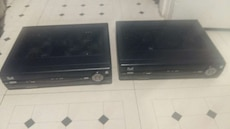two black DVD players