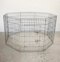 "New $35 Foldable 36"" Tall x 24"" Wide x 8-Panel Pet Playpen Dog Crate Metal Fence Exercise Cage South El Monte"
