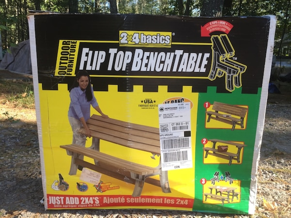 Flip Top Bench Table Picnic Table Kit Outdoor