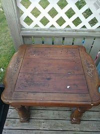 brown wooden table good for a cabin or back yard  Paradise, A1L 2V3