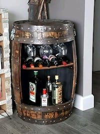 custom made whiskey wine racks