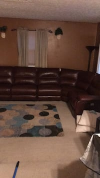 brown leather sectional couch with ottoman Upper Marlboro, 20772
