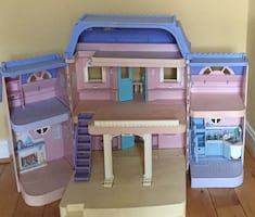 Purple and pink toy house