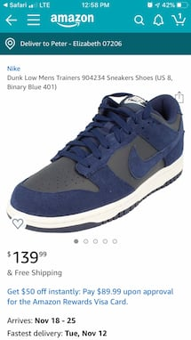 Nike Dunk low size 9.5
