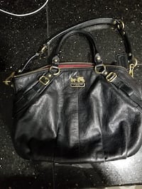 Authentic black leather coach Hand Bag  Toronto, M6S
