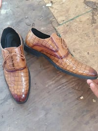 Size 13 pair of gator print leather dress shoes Pine Mountain, 31822