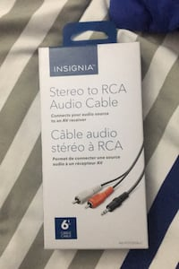 Stereo to rca connector