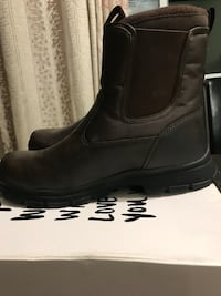 Pair of black leather boots brand new  for man size 11.retail $120 . Serious buyer only Toronto, M2J