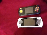 2 retro portable video game consoles loaded with over 150 games