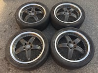 """18"""" grey and chrome deep dish rims  Mississauga, L5A 3L7"""