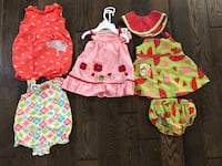 Baby girl summer outfits, 6-12 moths 25 mi