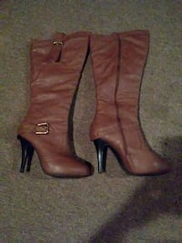 High top brown boots size 9