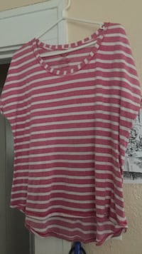 Red stripe blouse Fort Worth, 76105